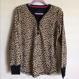 Betsey Johnson Leopard Print Pajamas